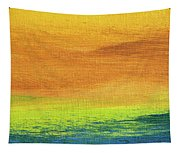 Fields Of Gold 2 - Abstract Summer Landscape Painting Tapestry