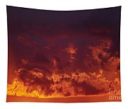 Fiery Clouds Tapestry