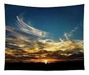Fiery Sunset Tapestry