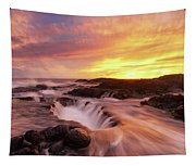 Fiery Sunset Tapestry