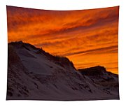 Fiery Sunset Over The Dunes Tapestry