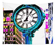 Fifth Avenue Building Clock New York  Tapestry