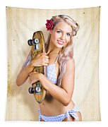 Fifties And Sixties Australian Surf Skate Culture Tapestry