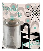 Fifties Kitchen Coffee Pot Perk Coffee Tapestry