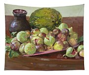 Figs And Cantaloupe Tapestry
