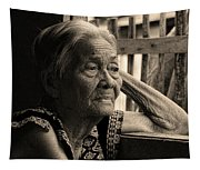 Filipino Lola Image Number 33 In Black And White Sepia Tapestry