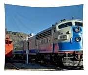 Fillmore And Western Railway Christmas Train 2 Tapestry