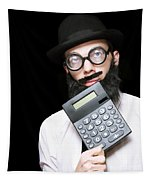 Financial And Accounting Genius With Calculator Tapestry