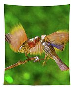 Finches In Motion I  Tapestry