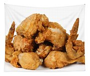 Fine Art Fried Chicken Food Photography Tapestry