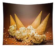 Fine Art Ice Cream Cone Spill Tapestry