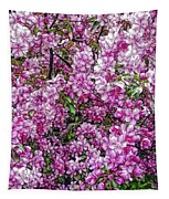 Fine Wine Cafe Apple Blossoms Tapestry