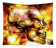 Fire And Skull Tapestry
