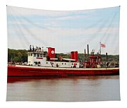 Fire Boat Tapestry