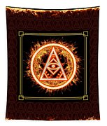 Fire Emblem Sigil Tapestry by Shawn Dall