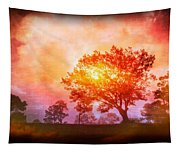 Fire In The Trees Tapestry