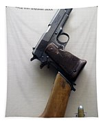 Firearms 1917 Colt Model 1911 Semi Auto 45cal With Shoulder Stock Tapestry