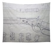 Firearms Lever Action Rifle Drawing Tapestry