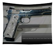 Firearms Smith And Wesson 1911 Semi Auto 45cal Pearl Handle Pistol Tapestry