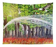 Firefighter In Braids Tapestry