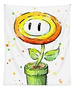 Fireflower Watercolor Tapestry