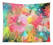 Fireworks Floral Abstract Square Tapestry