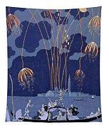 Fireworks In Venice Tapestry