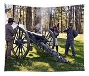 Firing The Cannon Tapestry