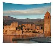 First Light Over Collioure Tapestry
