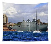 First Peak At Australia's Newest Warship Tapestry