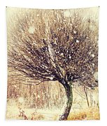 First Snow. Snow Flakes Tapestry