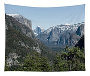 First View Of Yosemite Valley Tapestry