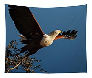 Fish Eagle Taking Flight Tapestry