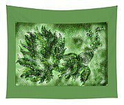 Fish In Green Mosaic 2 Tapestry