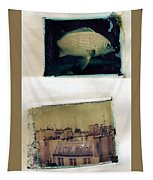 Fish Over Paris Tapestry