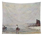 Fisherman In Villerville Tapestry