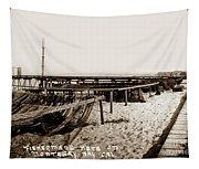 Fishermens Nets On Del Monte Beach Tapestry