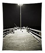 Fishing At Night Tapestry