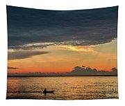 Fishing At Sunrise Tapestry