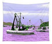 Fishing Boats At Pearl Beach 1.0 Tapestry