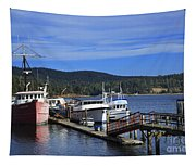 Fishing Boats In Sooke Tapestry