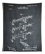 Fishing Lure Patent 1904 Chalk Tapestry