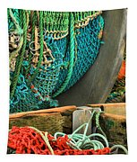 Fishing Net Portrait Tapestry