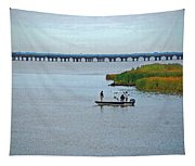 Fishing On The Flats Tapestry