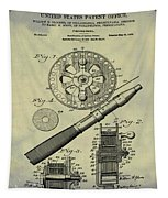 Fishing Reel Patent 1906 Vintage Tapestry
