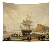 Fishing Scene, Teignmouth Beach And The Ness, 1831 Tapestry