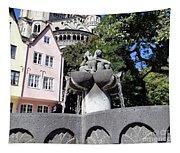 Fishmongers Fountain In Koln, Germany Tapestry
