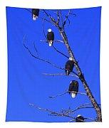Five Bald Eagles Tapestry