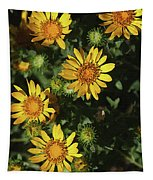 Five Yellow Flowers  Tapestry