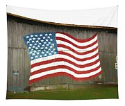 Flag And Barn - Painting Tapestry